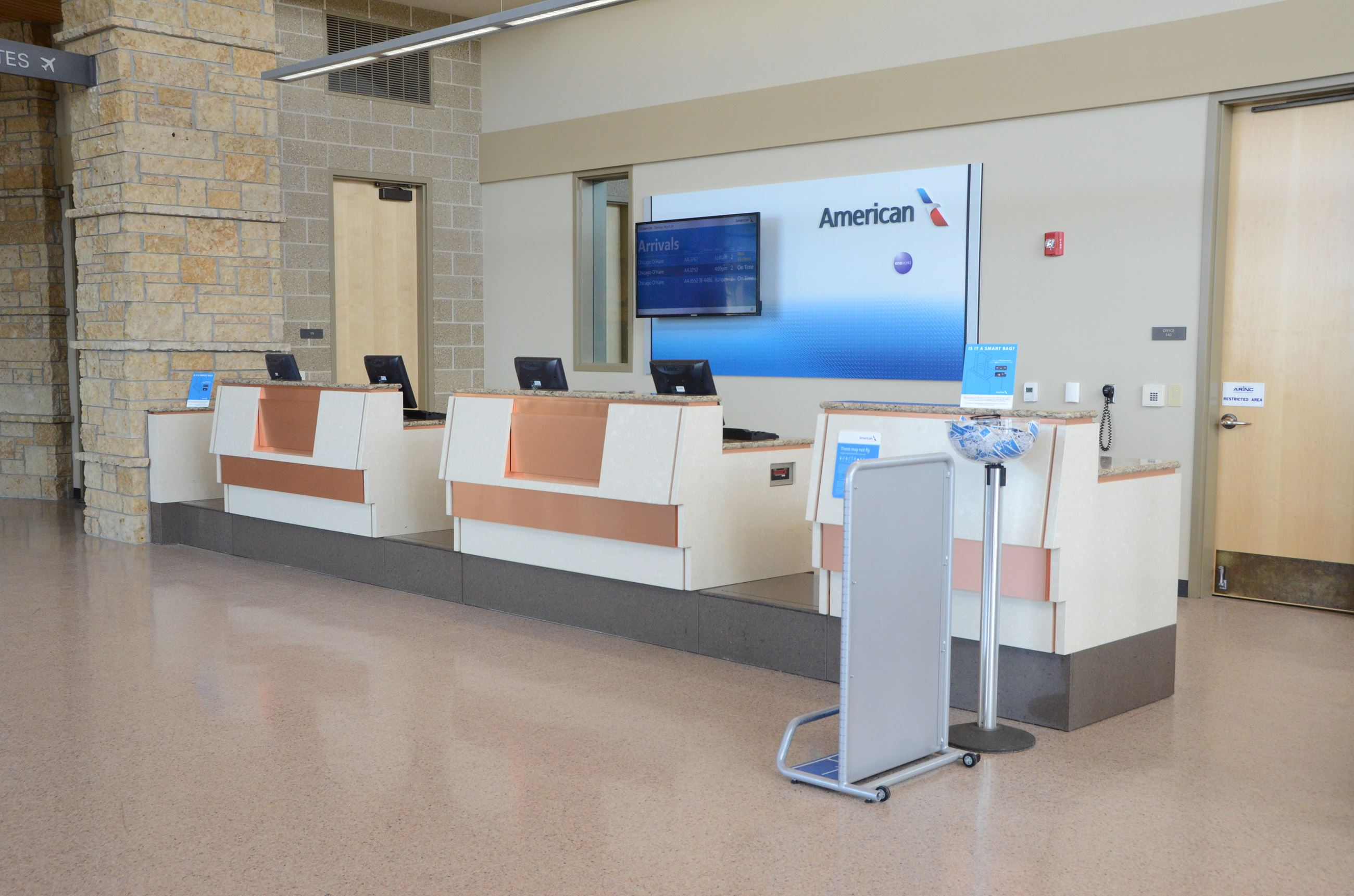 American Eagle Ticket Counter