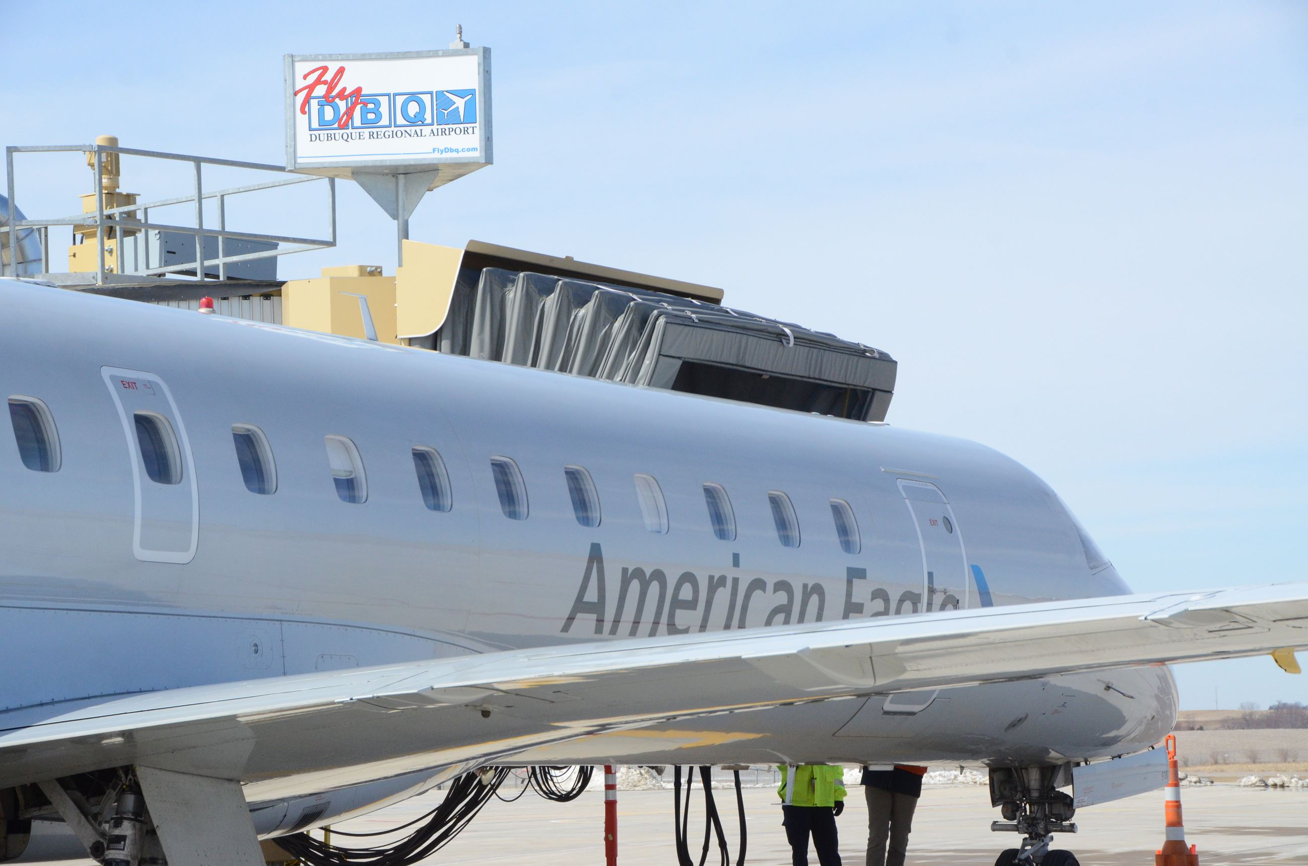 American Airlines at Jet Bridge